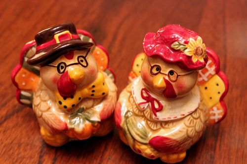 Turkey Salt n Pepper Shakers