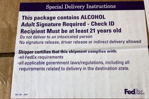 This package contains alcohol