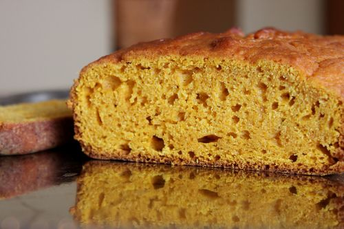 Ginger Pumpkin Bread Sliced