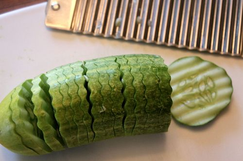 Wavy Sliced Cucumber