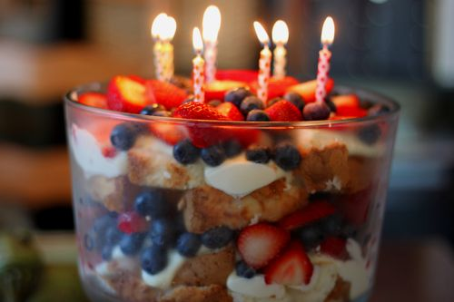 Very Berry Summer Birthday Trifle