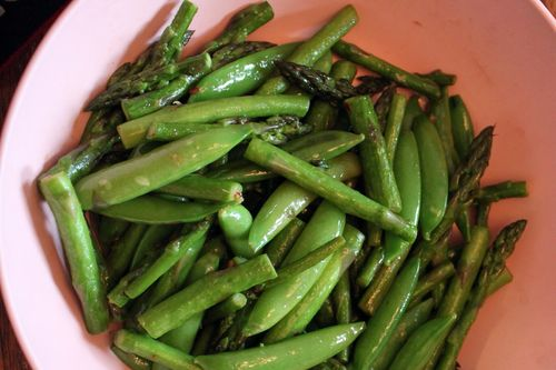 Stir-Fry Asparagus and Sugar Snap Peas