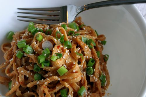 Quick and Spicy Peanut Noodles