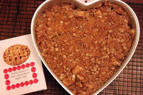 Heart Shaped Apple Crisp