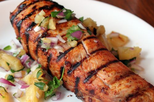 Pork Tenderloin Grilled with Pineapple Salsa