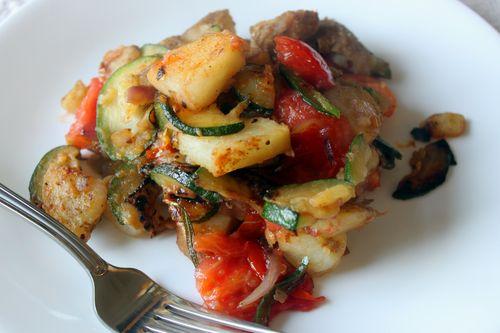 Potato Zucchini Tomato Onion Saute