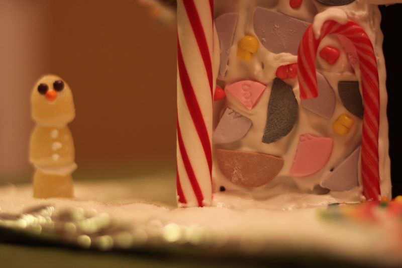 Gum Drop Snowman Necco Wafers Gingerbread House
