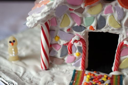 How to Use Necco Wafers on Gingerbread House